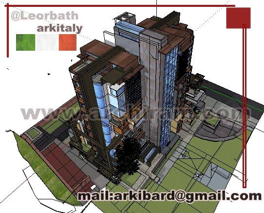 Inserimento in contesto di isolato urbano di edificio di dimensioni verticali contenute 8  piani