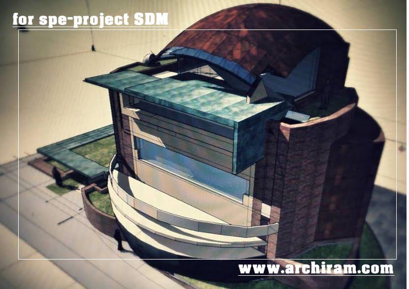 Inserimento in isolato urbano, su piano di lottizzazione progetto di edificio