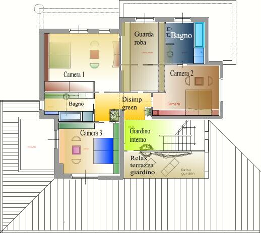 Studi di interni design for Design frontale della casa a un piano